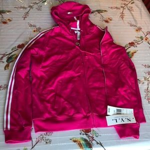 N.Y.L pink zip up sweater